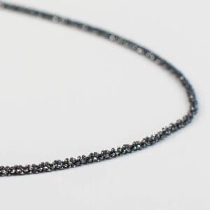 Diamantisierte Silberkette. Schlicht und dabei doch etwas ganz besonderes.