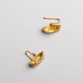 """""""Ein Schiff wird kommen"""" Ohrringe in Silber vergoldet. Gibts auch als Kettenanhänger bei der Schmuckgraefin"""