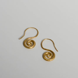 Ohrringe als Spirale - vergoldet - Schmuck in Berlin Kreuzberg