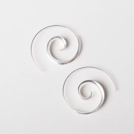 Silberohrring Spirale 925 Silber