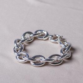 Massives Silberarmband. Kettenglieder ca 2 cm Durchmesser. solide und massiv.