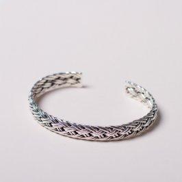 Silberarmspange(geflochten) für Mann und Frau