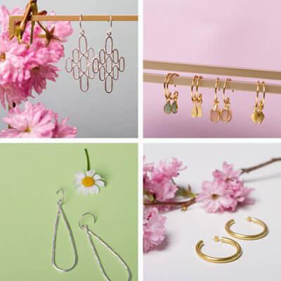 Ohrringe von groß bis ganz klein. Wir haben eine sehr schöne Auswahl an minimalistischem Schmuck.