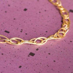 Ineinanderverschlungene Ringe als Collier - Silber gold plattiert
