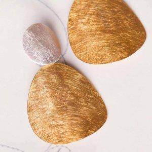 Wunderbare große Ohrringe in Silber und Silber vergoldet. Ein echtes Statement und ganz leicht!