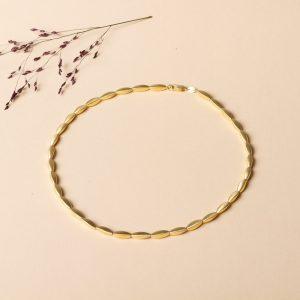 Halskette in Gold. Material Silber vergoldet.